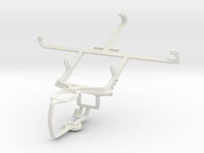Controller mount for PS3 & Pantech Flex  P8010 in White Natural Versatile Plastic