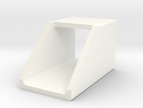 H0 Box Culvert Headwall (size 2) in White Strong & Flexible Polished