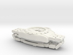Wristwatch pendant top in White Natural Versatile Plastic