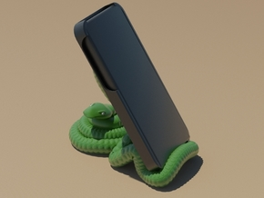 snake smartphone holder in White Natural Versatile Plastic