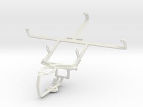 Controller mount for PS3 & Pantech Vega R3 IM-A850 in White Natural Versatile Plastic