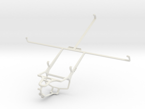 Controller mount for PS4 & Prestigio MultiPad 10.1 in White Natural Versatile Plastic