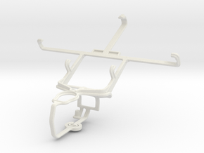 Controller mount for PS3 & Samsung E330S Galaxy S4 in White Natural Versatile Plastic