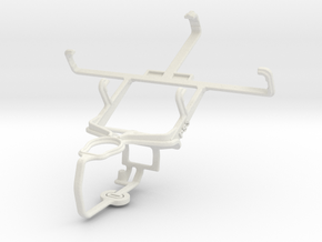 Controller mount for PS3 & Samsung Galaxy Ace Plus in White Natural Versatile Plastic