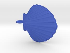 Scallop Necklace Small in Blue Processed Versatile Plastic