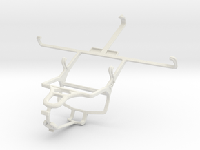 Controller mount for PS4 & Samsung Galaxy Mega 5.8 in White Natural Versatile Plastic