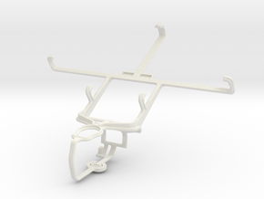 Controller mount for PS3 & Samsung Galaxy Note II  in White Natural Versatile Plastic