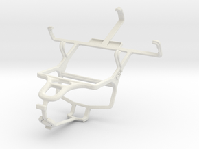 Controller mount for PS4 & Samsung Galaxy Pop Plus in White Natural Versatile Plastic