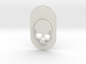 Skull mark in White Natural Versatile Plastic