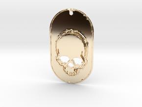Skull mark in 14K Yellow Gold