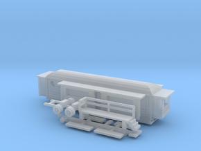 Wohnwagen rundes Dach 2 - 1:220 (z scale) in Smooth Fine Detail Plastic