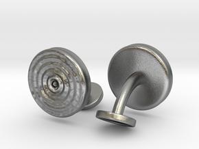 Ripple Cufflinks (pair) in Natural Silver