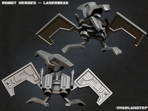 Robot Heroes Laserbeak in White Strong & Flexible Polished