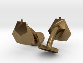 Asp mk II - Cufflinks (pair) in Natural Bronze