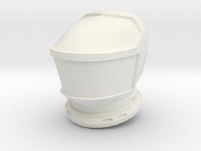 SF Lunar Astronaut / Helmet / 1:24 / 1:16 in White Natural Versatile Plastic: 1:24