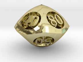 Overstuffed Decader d10 in 18K Gold Plated