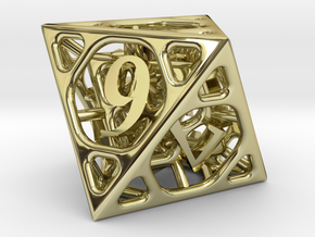 Cage d8 in 18K Gold Plated