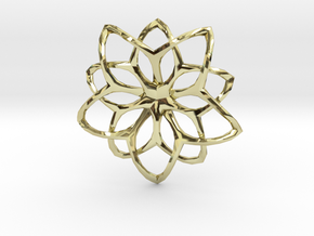 Flower Loops Pendant in 18K Gold Plated