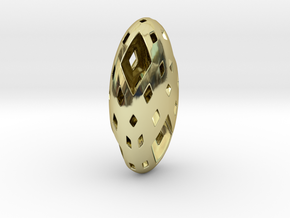 Menger Pebble in 18K Gold Plated