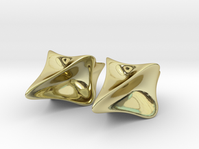 Pinched Silver Earrings in 18K Gold Plated