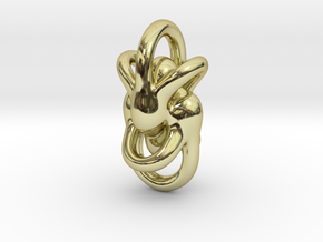 Peace of Love (3 sizes) in 18k Gold Plated Brass: Medium
