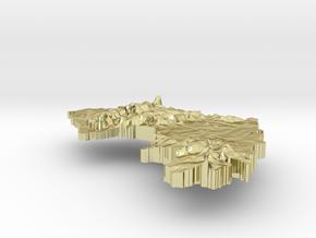 Guinea Terrain Silver Pendant in 18K Gold Plated