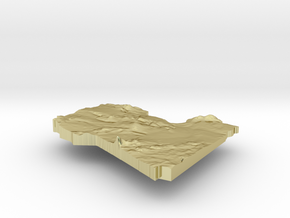 Libya Terrain Silver Pendant in 18K Gold Plated