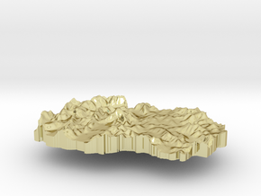 Macedonia Terrain Silver Pendant in 18K Gold Plated