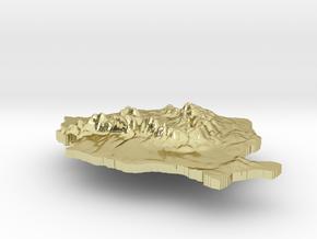 Romania Terrain Silver Pendant in 18K Gold Plated