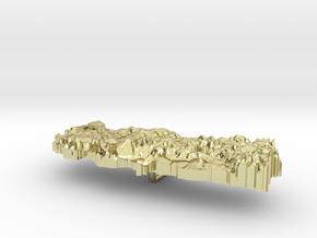 Turkey Terrain Silver Pendant in 18K Gold Plated