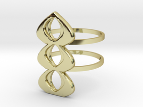 mod atomic ring size 10 in 18K Gold Plated