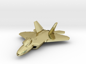 F-22 Raptor (small) in 18K Gold Plated
