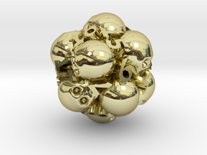 Spin-Down Ossuary d20 in 18K Gold Plated