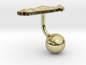 Madagascar Terrain Cufflink - Ball in 18K Gold Plated