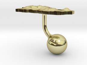 Puerto Rico Terrain Cufflink - Ball in 18K Gold Plated