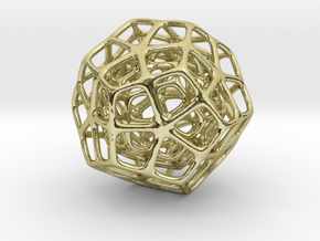 Double Dodecahedron Silver in 18K Gold Plated
