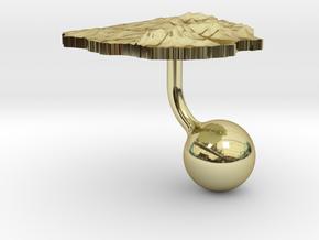 Uruguay Terrain Cufflink - Ball in 18K Gold Plated