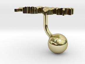 Switzerland Terrain Cufflink - Ball in 18K Gold Plated