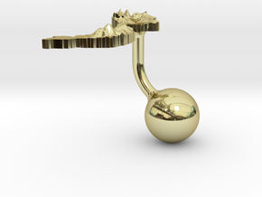 Vietnam Terrain Cufflink - Ball in 18K Gold Plated