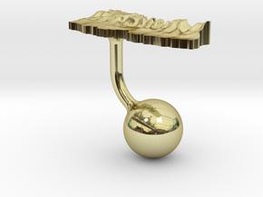 Nepal Terrain Cufflink - Ball in 18K Gold Plated