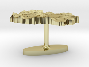 Macedonia Terrain Cufflink - Flat in 18K Gold Plated