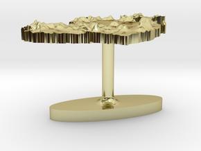 Ireland Terrain Cufflink - Flat in 18K Gold Plated