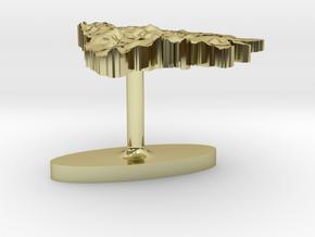 Bosnia and Herzegovina Terrain Cufflink - Flat in 18K Gold Plated