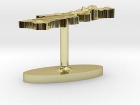 Portugal Terrain Cufflink - Flat in 18K Gold Plated