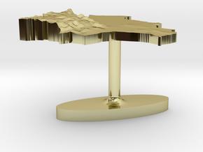 Bolivia Terrain Cufflink - Flat in 18K Gold Plated