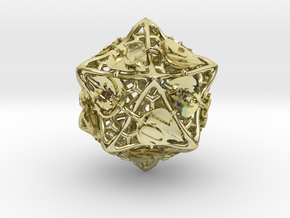 Botanical Die20 (Aspen) in 18K Gold Plated