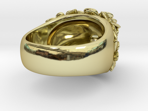 Daisy Volcano Cocktail Ring in 18K Gold Plated
