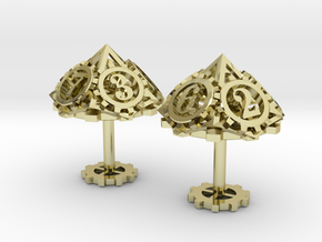 Steampunk Gear Cufflinks in 18K Gold Plated