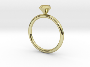 diamond ring in 18K Gold Plated