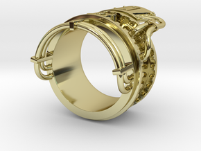 Steampower ring v2 in 18K Gold Plated